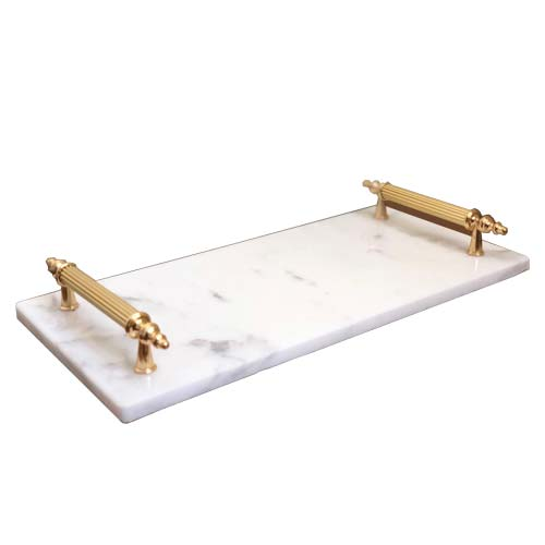 wakeb online Home service marble-tray-white-wakeb-online-turkish-products